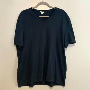 Calvin Klein Teal Blue V-Neck Short Sleeve Tee XL